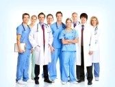 8950296-smiling-doctors-with-stethoscopes-over-blue-background